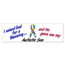 Blessing 3 (Autistic Son) Bumper Bumper Sticker