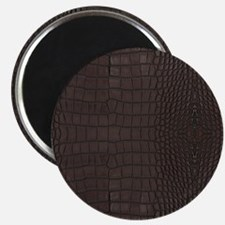 Gator Brown Leather Magnets
