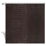 Brown alligator skin Shower Curtains