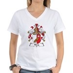 Hitzig Family Crest Women's V-Neck T-Shirt