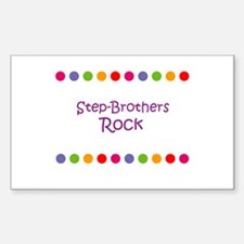 Step-Brothers Rock Rectangle Decal