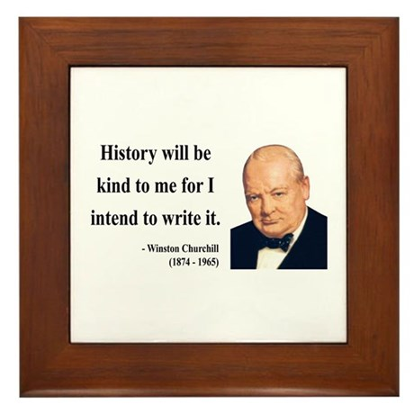 Winston Churchill 20 Framed Tile