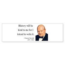 Winston Churchill 20 Bumper Bumper Sticker
