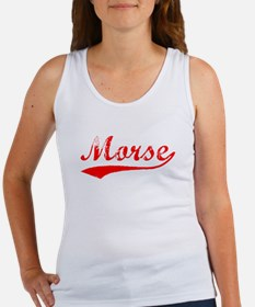 Vintage Morse (Red) Women's Tank Top