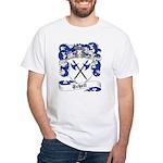 Schell Family Crest White T-Shirt