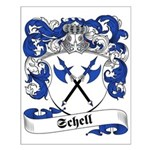 Schell Family Crest Small Poster