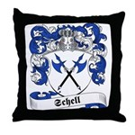 Schell Family Crest Throw Pillow