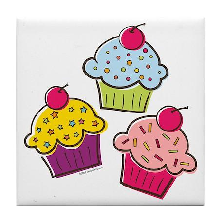 Cupcakes Tile Coaster