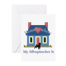 Home Is Affenpinscher Greeting Cards (Pk of 10)