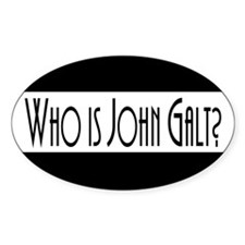 Who is John Galt? Atlas Shrug Oval Decal