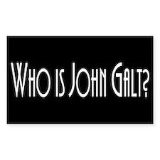 Who is John Galt? Atlas Shrug Rectangle Decal