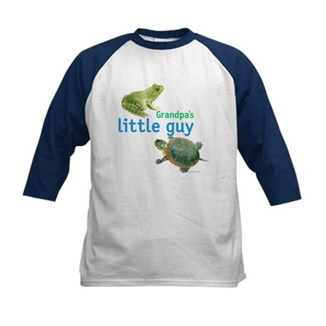 grandpa's little guy Kids Baseball Jersey