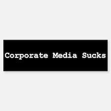 Corporate Media Sucks Bumper Bumper Bumper Sticker