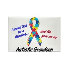 Blessing 3 (Autistic Grandson) Rectangle Magnet