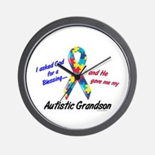 Blessing 3 (Autistic Grandson) Wall Clock