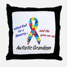 Blessing 3 (Autistic Grandson) Throw Pillow