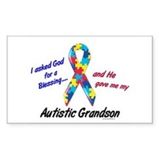 Blessing 3 (Autistic Grandson) Rectangle Decal