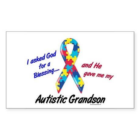 Blessing 3 (Autistic Grandson) Rectangle Sticker