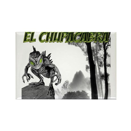 Chupacabra in the Woods 3 Rectangle Magnet
