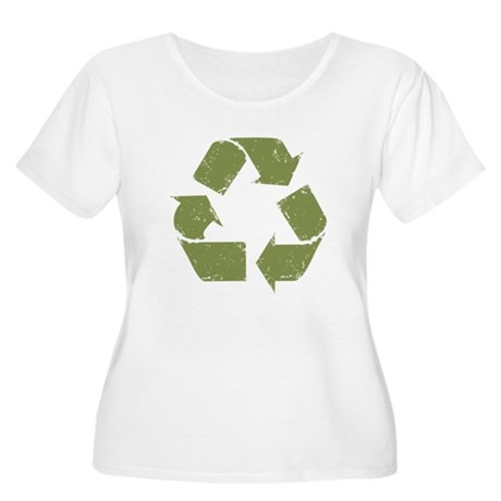 Grunge Recycle Logo Women's Plus Size Scoop Neck T