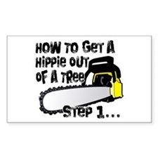 Got Hippies In Your Trees? Rectangle Decal