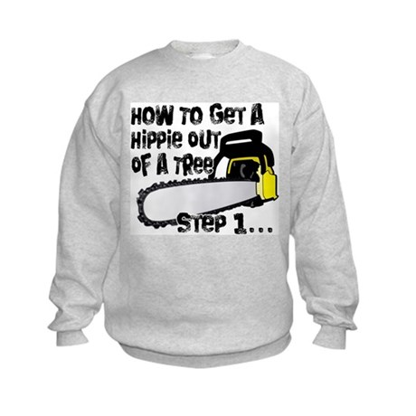 Got Hippies In Your Trees? Kids Sweatshirt