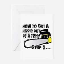Got Hippies In Your Trees? Greeting Cards (Pk of 1