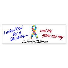 Blessing 3 (Autistic Children) Bumper Bumper Sticker