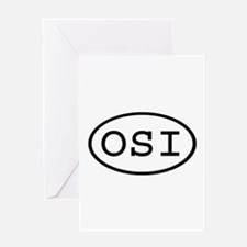OSI Oval Greeting Card