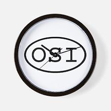 OSI Oval Wall Clock