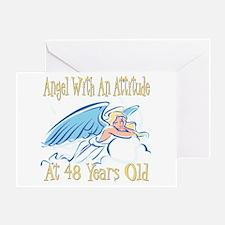 Angel Attitude 48th Greeting Card