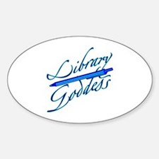 Library Goddess Oval Decal