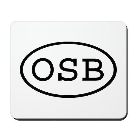 OSB Oval Mousepad