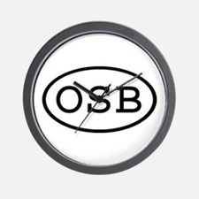 OSB Oval Wall Clock