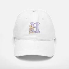 Teddy Alphabet H Purple Baseball Baseball Cap