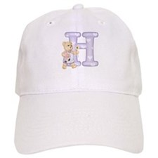 Teddy Alphabet H Purple Baseball Cap