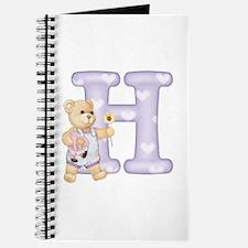 Teddy Alphabet H Purple Journal