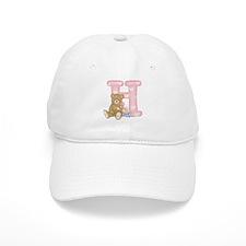 Teddy Alphabet H Pink Baseball Cap