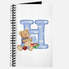 Teddy Alphabet H Blue Journal