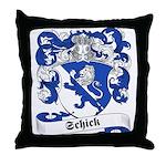 Schick Family Crest Throw Pillow