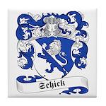 Schick Family Crest Tile Coaster