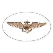Wings of Gold Oval Decal
