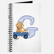 Teddy Alphabet G Blue Journal