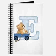 Teddy Alphabet E Blue Journal
