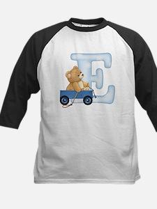 Teddy Alphabet E Blue Tee