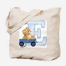 Teddy Alphabet E Blue Tote Bag