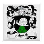 Schneck Family Crest Tile Coaster