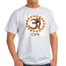 Meditate (OM) Ash Grey T-Shirt
