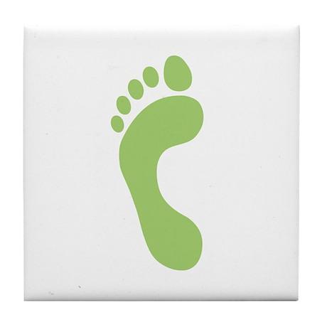 Footprint Tile Coaster