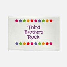 Third Brothers Rock Rectangle Magnet